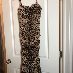 Dolce & Gabbana leopard print cocktail dress